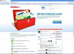 Toolbox webpage
