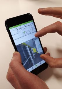 Dalux BIM viewer on smartphone