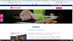 Formworks website