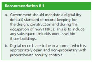 Hackitt recommendation 8.1