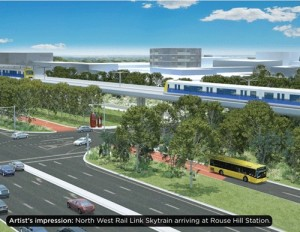Artist's impression of North West Rail Link